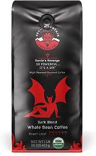 Dante's Revenge, Dark Roast, High-Powered Gourmet Coffee- USDA Organic, (Whole Bean) 16 oz.