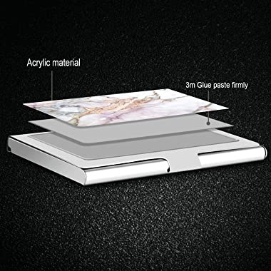 Business Card Holder - Pocket Metal Business Card Case for Women and Men Stainless Steel Credit Card Holder Business Card Wal