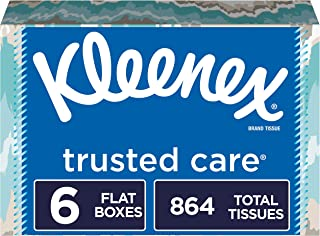 Kleenex Trusted Care Everyday Facial Tissues, 144 Tissues per Flat Boxes