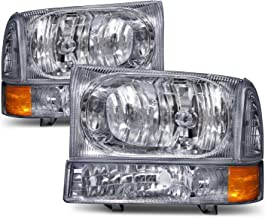 HEADLIGHTSDEPOT RV Headlights Compatible with Fleetwood Discovery 03-06 Includes Left Driver and Right Passenger Side Headlamps