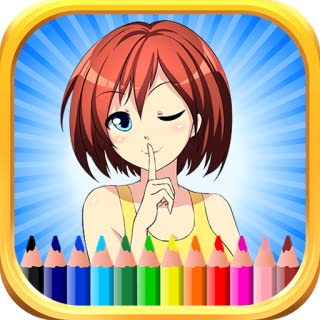 Kids Coloring Book Anime