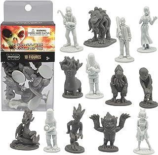 10 pcs Humans Vs Aliens Space Monster Action Figure Toy Playset - Unique Futuristic Sculpts - Great for Party Favors, Deco...