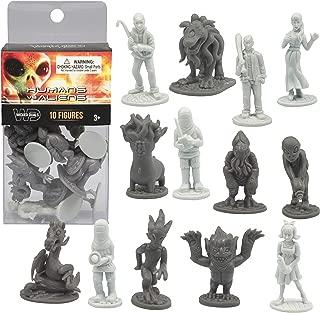 10 pcs Humans Vs Aliens Space Monster Action Figure Toy Playset - Unique Futuristic Sculpts - Great for Party Favors, Decorations, Dioramas, etc