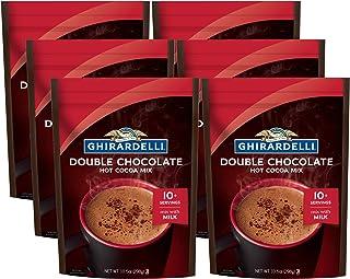Ghirardelli Double Chocolate Premium Hot Cocoa, 10.5 Ounce -- 6 per case.