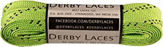 Derby Laces Lime Green 72 Inch Waxed Skate Lace for Roller Derby, Hockey and Ice Skates, and Boots