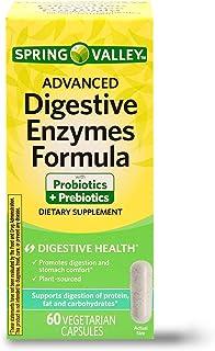 Spring Valley Advanced Digestive Enzymes Probiotic Prebiotics, 60 Vegetarian Capsules