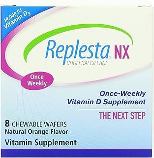 Replesta NX 14,000 IU Vitamin D3 Cholecalciferol Vitamin D Deficiency Once-Weekly Chewable Wafer, Non-GMO, Natural Orange ...