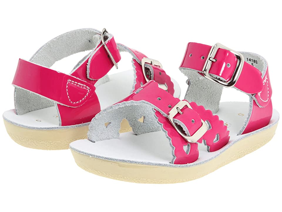 Salt Water Sandal by Hoy Shoes Sun-San Sweetheart (Toddler/Little Kid) (Shiny Fuchsia) Girls Shoes