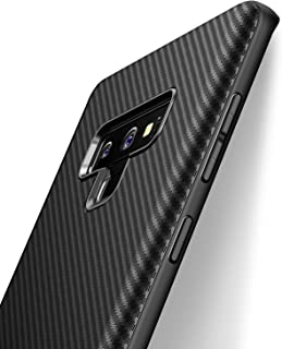 Samsung Galaxy Note 9 Case, iCOCEN [Carbon Fiber Texture Design] Durable Light Shockproof Cover Full Protective Stylish Slim Fit Shell Soft TPU Silicone Gel Bumper Case for Note 9 6.4inch 2018 Black