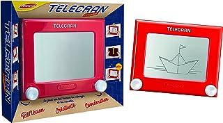 Joustra Ardoise Magique Telecran Original pour Dessiner à l'Infini-Enfants dès 5 ans-Format 19X19 cm-Coloris Rouge, J4140...
