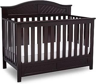 Delta Children Bennington Elite Curved 4-in-1 Convertible Crib, Dark Espresso