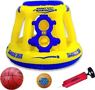 Wave Runner Swoosh 360 Swimming Pool Basketball Hoop Set by WAVERUNNER - (Yellow/Blue)