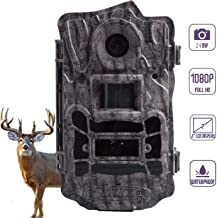 ScoutGuard Hunting Trail Camera, 24MP 1080P 120ft Motion Detection and Lighting Range Wildlife Game Camera with 100ft. Detection Night Vision 100°Wide Angle Waterproof Scouting Camera