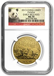 2013 CN China 1 oz Gold Panda MS-70 NGC (ER) 1 OZ MS-70 NGC