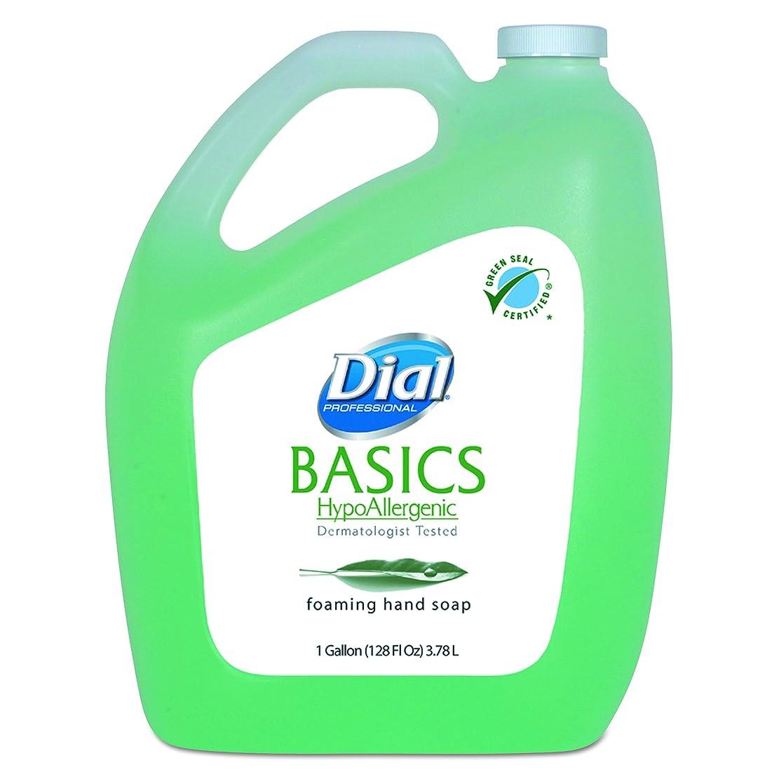 変装したミリメートル乳製品ダイヤルProfessional Basics Foaming Hand Soap、オリジナル、スイカズラ、1ガロンボトル、4?/カートン