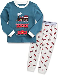 12M-7T Kids Boys Sleepwear Pajama Top Bottom 2 Pieces Set