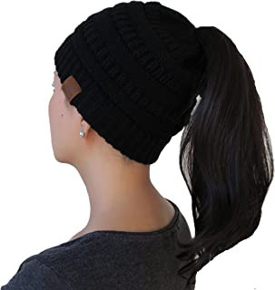 MYLU Knit Winter Beanie/Hat for Ponytail or Buns, Sports, One Size Fits All