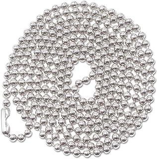 Badge d'identification Chaîne, 91,4cm, 100/BX, Métallique, vendu comme 1Boîte