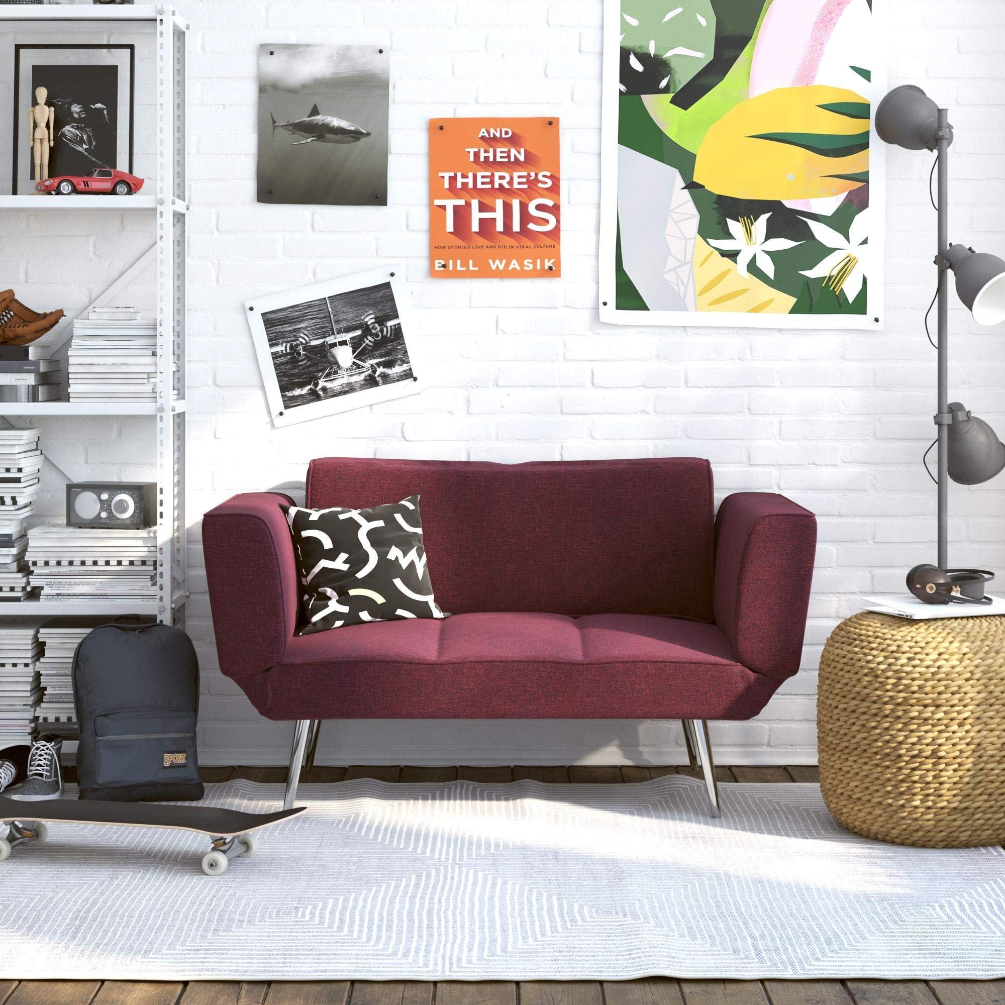 Amazon Com Novogratz Leyla Loveseat Berry Furniture Decor