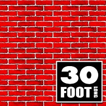 Signs Authority red brick wall party backdrop, photo prop, gift wrap, 4 foot by 30 foot, party supplies decoration, background holiday decoration