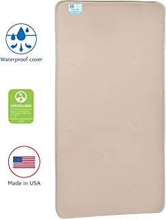 "Sealy Nature Couture Cotton Bliss Waterproof 2-Stage Toddler & Baby Crib Mattress - 204 Premium Coils, 51.7"" x 27.3"