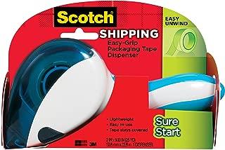 Scotch Easy-Grip Sure Start Packaging Tape Dispenser (DP-1000), Blue/White