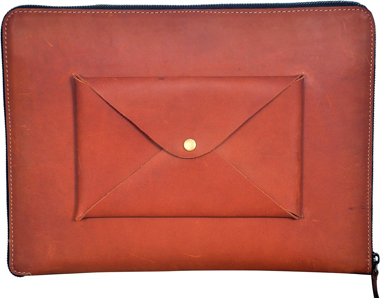 AGASTI Leather Zipped Padfolio Oakland Mall MacBook Portfolio Popular product Binder