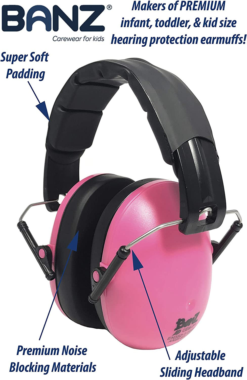 Leader de l/'industrie Le meilleur casque pour enfants BANZ Cache-oreilles avec /étui Doux et confortable 3 /à 10 ans Blocage de bruit Protection auditive pour enfants