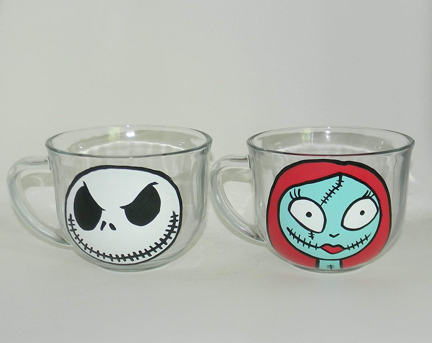 Genuine Free Shipping The Nightmare before Christmas Jack Sally coffee mug set and excellence
