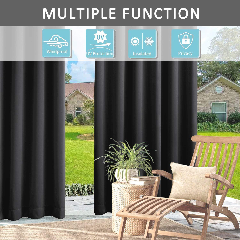 Cololeaf - Paneles de cortina para interior y exterior, para patio ...