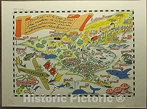 Historic Pictoric Map : Dakar, Senegal 1046, Dakar et le Cap Vert : vue cavaliere de la presqu'Île, Antique Vintage Reproduction : 60in x 44in