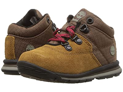 Timberland Kids GT Rally Mid (Toddler/Little Kid) (Medium Brown Suede/Fabric) Kids Shoes