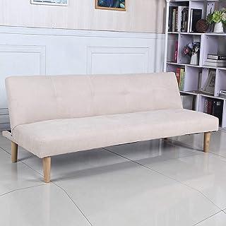 comprar comparacion Sofá Cama 3 plazas Clic Clac Joy Beige tapizado con Tela 100% Poliéster, Patas de Madera