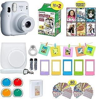 Fujifilm Instax Mini 11 cámara instantánea blanco hielo + estuche de transporte compatible con obturador + Fuji Film Value...
