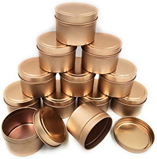 Candle Containers for Making Candles, Candle Making Kits Include 24 Pack 5 Oz Metal Candle Tins with Lids, 50 Cotton Wick...