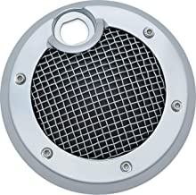Kuryakyn 6982 Motorcycle Accent Accessory: Mesh Fuel Door for 2008-19 Harley-Davidson Motorcycles, Chrome