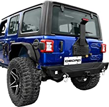 OEDRO Rear Bumper, Compatible for 2018-2019 Jeep Wrangler JL, Rock Crawler Bumper with Hitch Receiver 2 x LED Lights & 2 x D-Rings (ONLY fit JL)