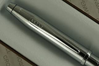 Cross Century II Diamond Cut Herringbone Art Deco and Extremely Polished Appointments Ballpoint Pen