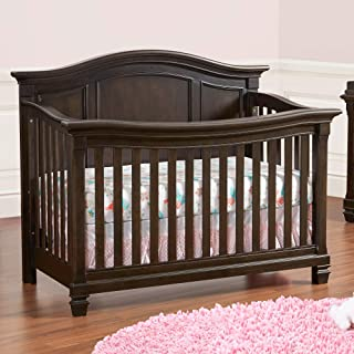 Baby Cache Glendale 4 in 1 Convertible Crib, Charcoal Brown