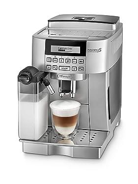 De'Longhi Magnifica S Cappuccino ECAM 22.366.S Kaffeevollautomat (Digitaldisplay, integriertes Milchsystem, Cappuccino auf Knopfdruck, Herausnehmbare Brühgruppe, 2-Tassen-Funktion) silber