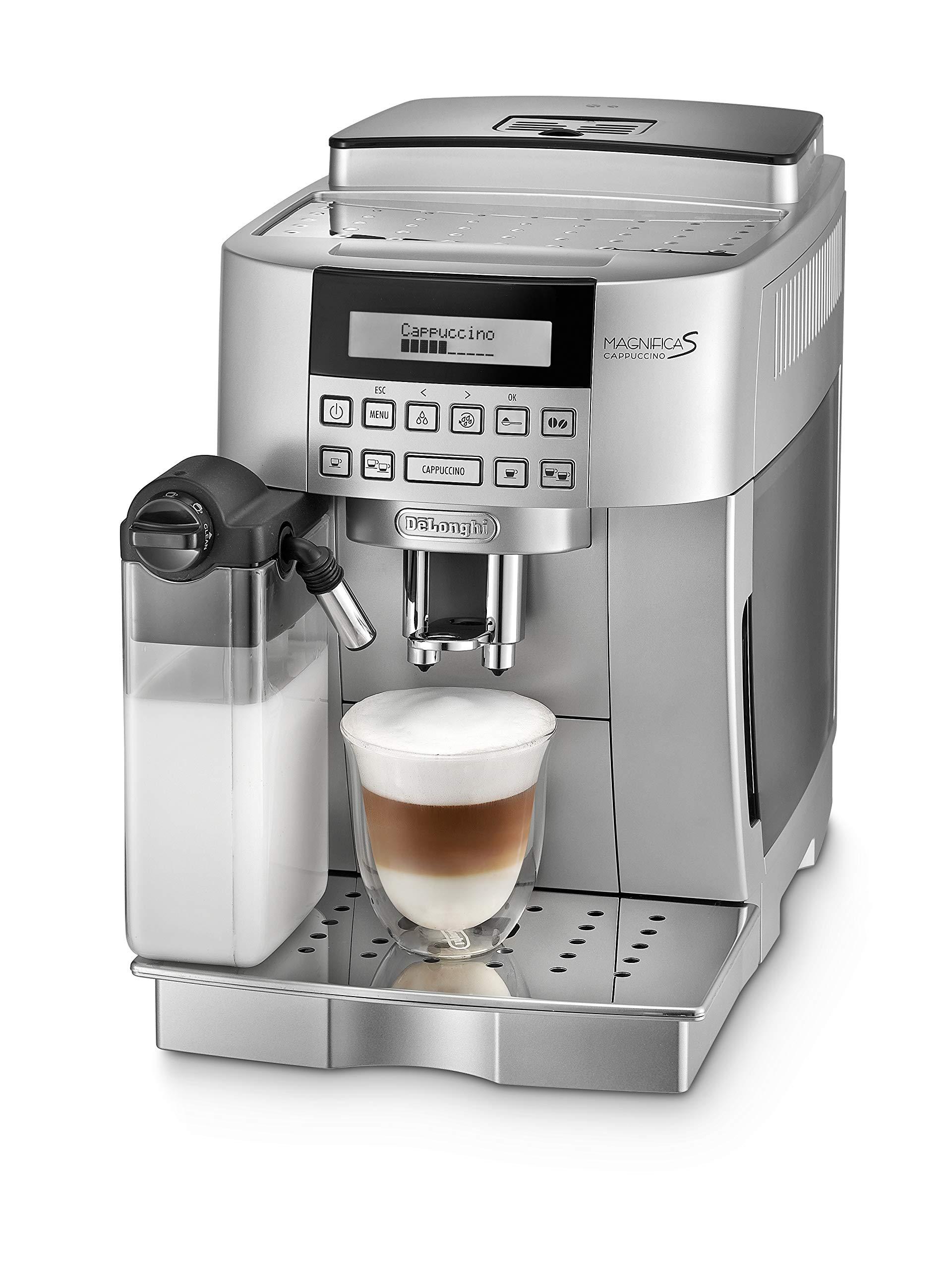 DeLonghi ECAM 22.366.S Cafetera combinada, Independiente, Totalmente automática, Molinillo integrado, 1450 W, 1,8 L, Plata: Amazon.es: Hogar