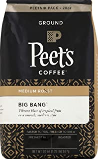 Peet's Coffee Big Bang, Medium Roast Ground Coffee, 20 Ounce Peetnik Pack