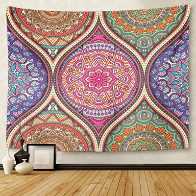Berrykey Tapestry India with mágicas Vintage Arabic Indian otomana Motifs Henna Flower Home Decor Wall Hanging for Living Room Bedroom Dormisette 60 x 80 Inches: Amazon.es: Juguetes y juegos