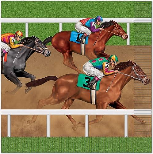 Horse Racing Serviettes en papier