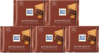 Ritter Sport 100g - Pack of 5 - (Butter Biscuit)