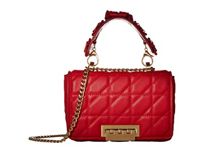 ZAC Zac Posen Earthette Small Soft Chain Shoulder Solid Quilted (Cranberry) Handbags
