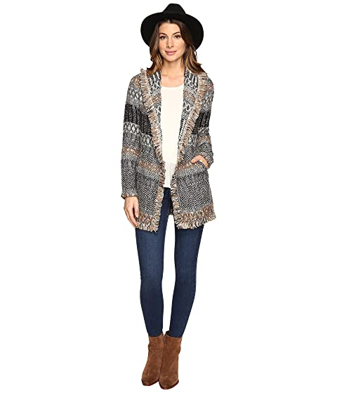 Lucky Brand Women S Blanket Cardigan Natural Multi Sweater