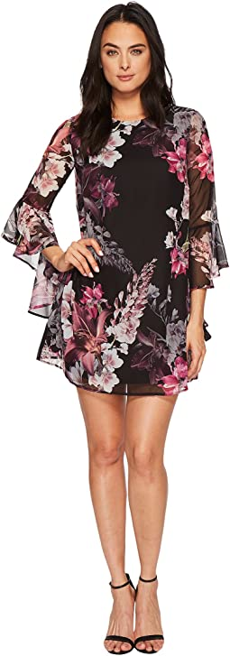 Ashley Bell Sleeve Blooms Dress