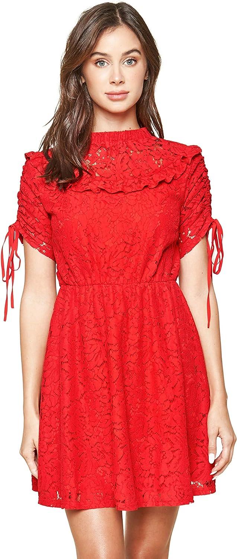 新色 Sugar Lips Women's 贈呈 Lomitas Babydoll Lace Dress