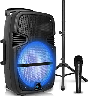 $149 » Sponsored Ad - Technical Pro 3000 Watts Rechargeable 15 Inch Bluetooth LED Portable PA Speaker with Built-in LCD Screen, M...